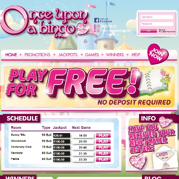 Once Upon a Bingo Goes Live With No Lose Bingo