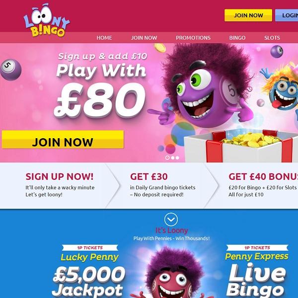 Loony Bingo Is Crazy For Online Bingo Players