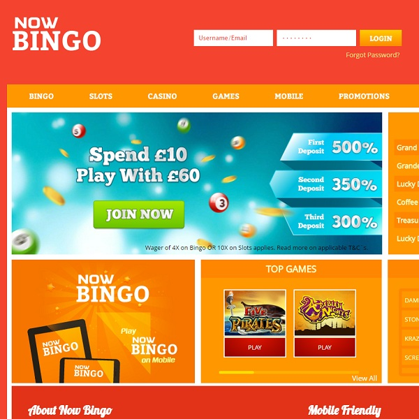 Now Bingo Offers Huge Jackpot Bingo Games