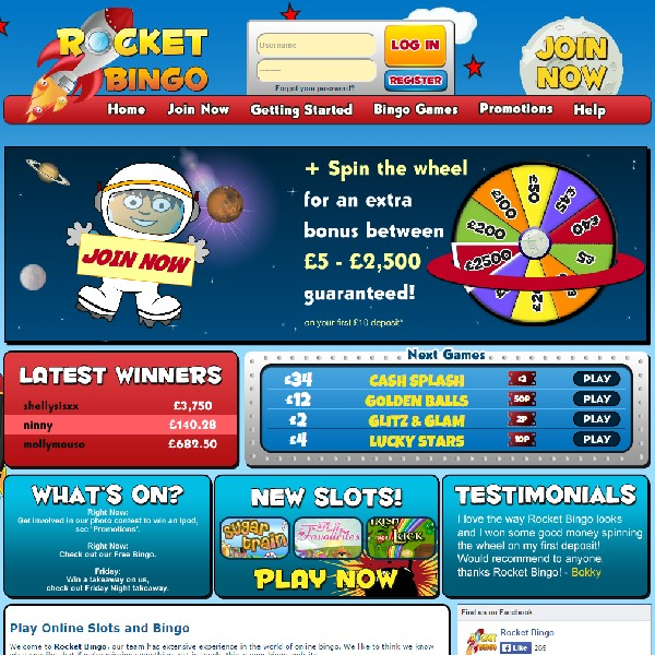 Rocket Bingo Launches With Special Jackpots
