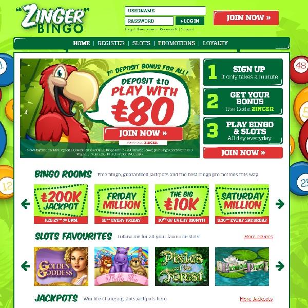 Zinger Bingo Goes Live With Fantastic Games