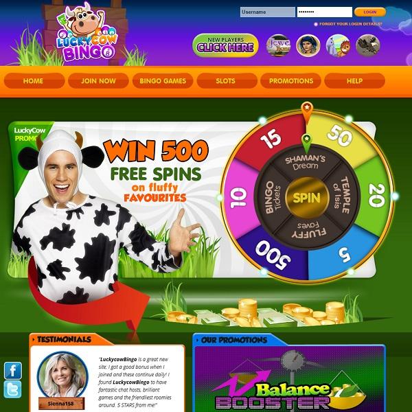Lucky Cow Bingo Offers Generous Welcome Bonuses