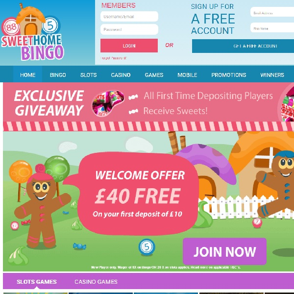 Sweet Home Bingo Offers Top Bingo and Sweet Surprises
