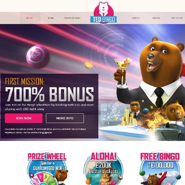 Ted Bingo Features Bears Hosting Quality Online Bingo