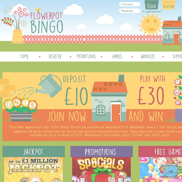 Flowerpot Bingo Takes Gaming Into the Garden