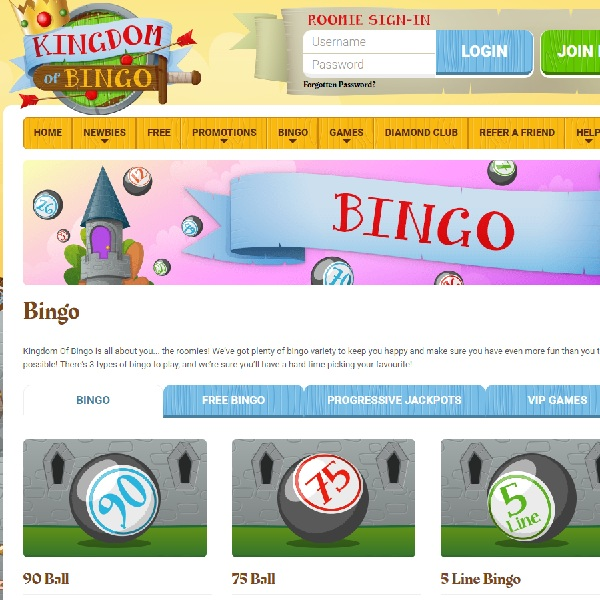Kingdom Of Bingo Takes You to a Land of Games