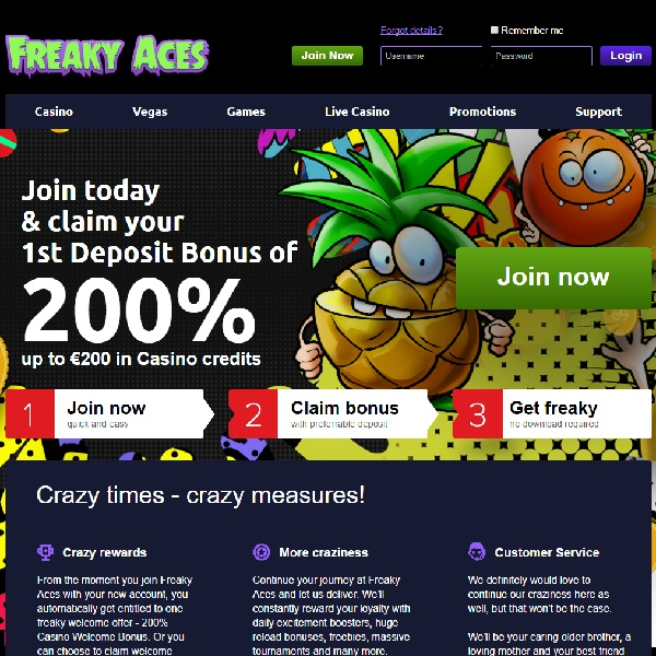 Freaky Aces Casino Launches With Top Games