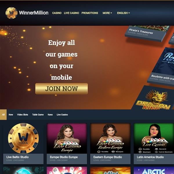 Winner Million Casino Offers Huge Winnings