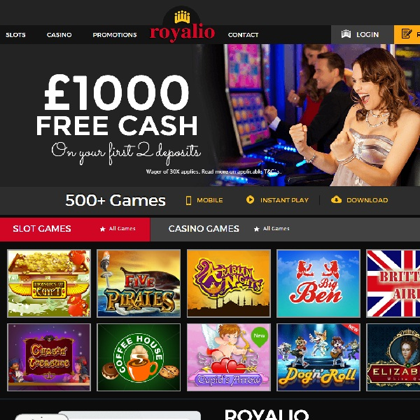 Royalio Casino Brings Players Hundreds of Games