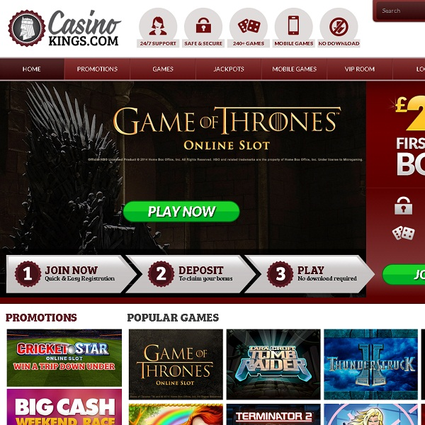 Casino Kings Offers Games Fit for Royalty