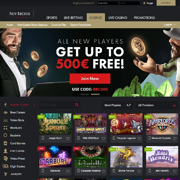 Roy Richie Casino Goes Live With Quality Games