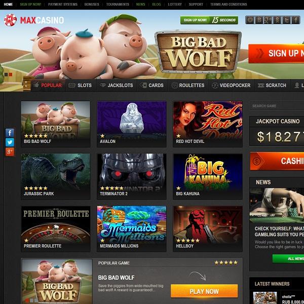 Max Casino Brings Players Maximum Gambling Pleasure