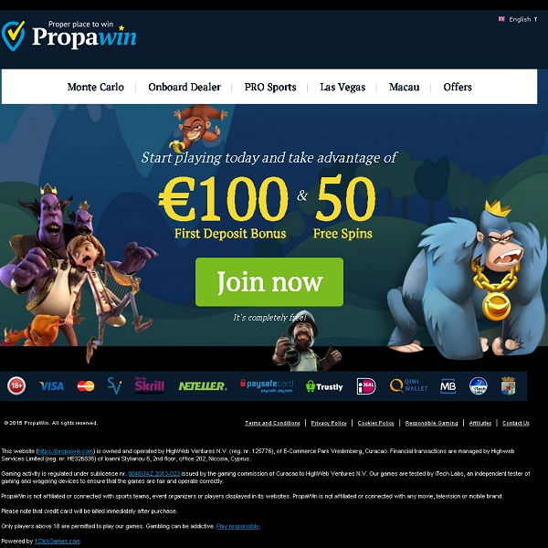 PropaWin Casino Offers Huge Gambling Variety