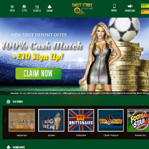 Sweet Strike Casino Brings Gambling to the Pitch