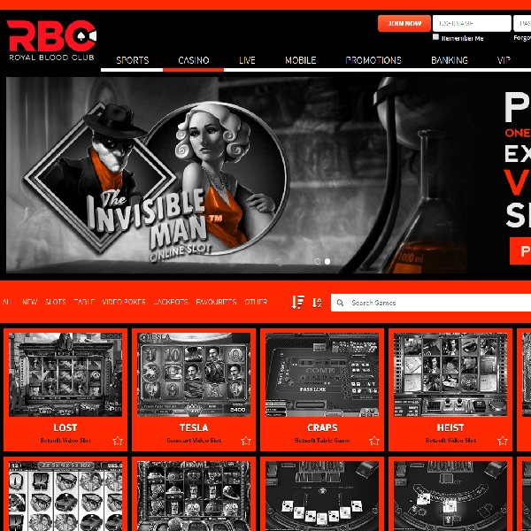 Royal Blood Casino Will Treat You Like a King