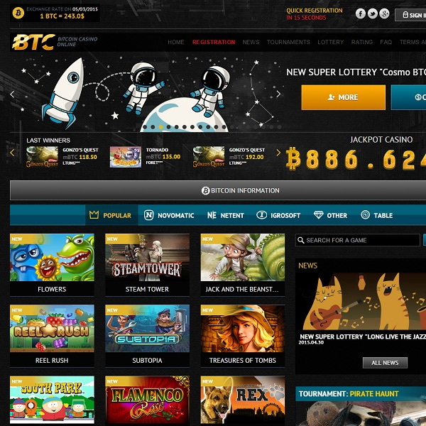 BTC Casino Allows Banking in Bitcoins