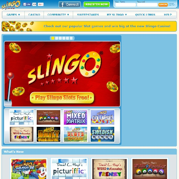 Slingo Casino Offers Bingo Games Galore
