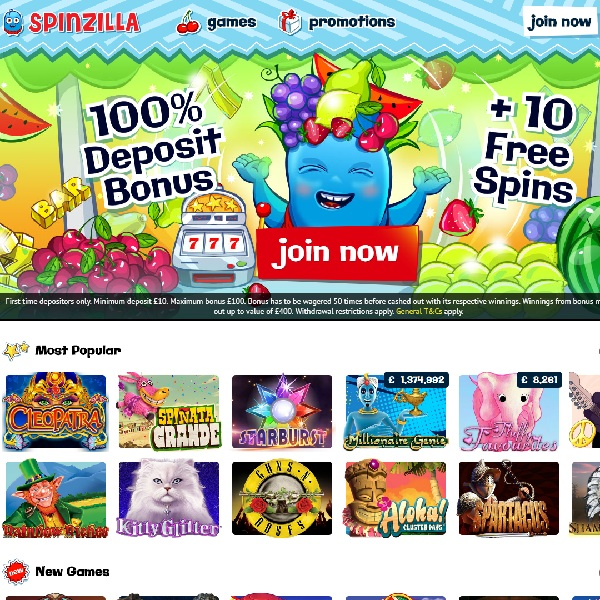 Spinzilla Casino Brings You Hundreds of Top Slots