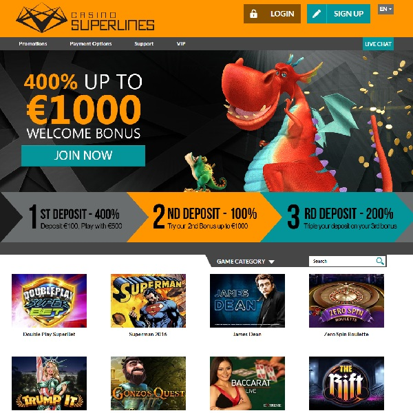 Casino Superlines Brings a Sleek Gambling Experience