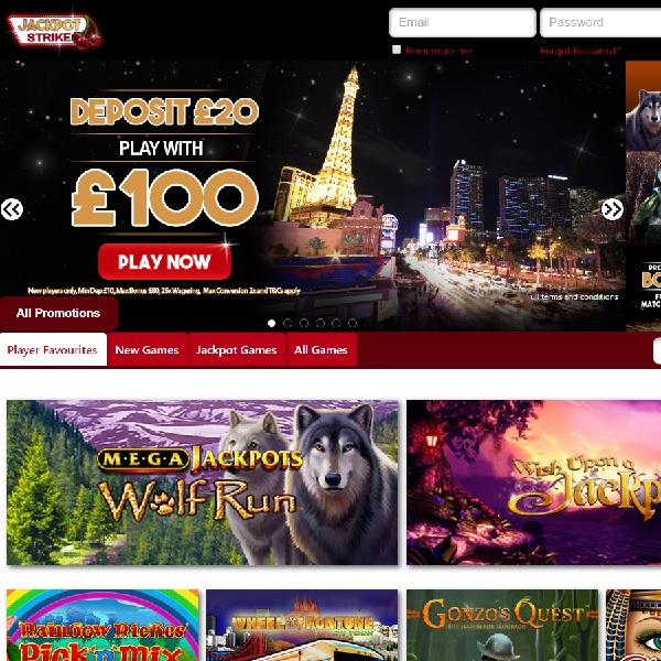 Jackpot Strike Casino Offers Mobile Progressive Games
