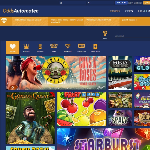 OddsAutomaten Casino Goes Live for Swedes