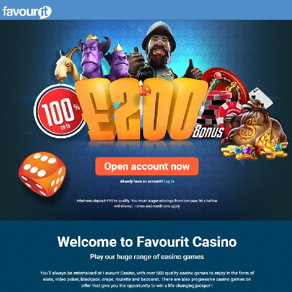 Favour It Casino Brings Your Favourites Together