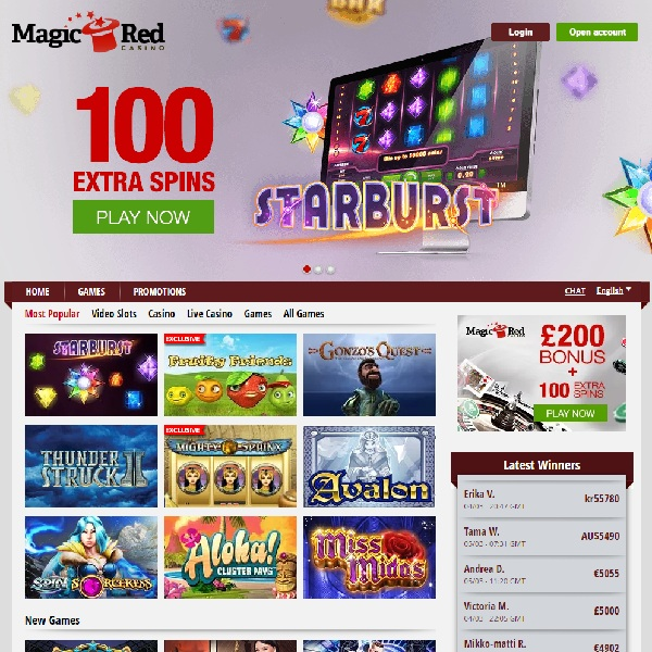 Magic Red Casino Welcomes UK and Scandinavian Players