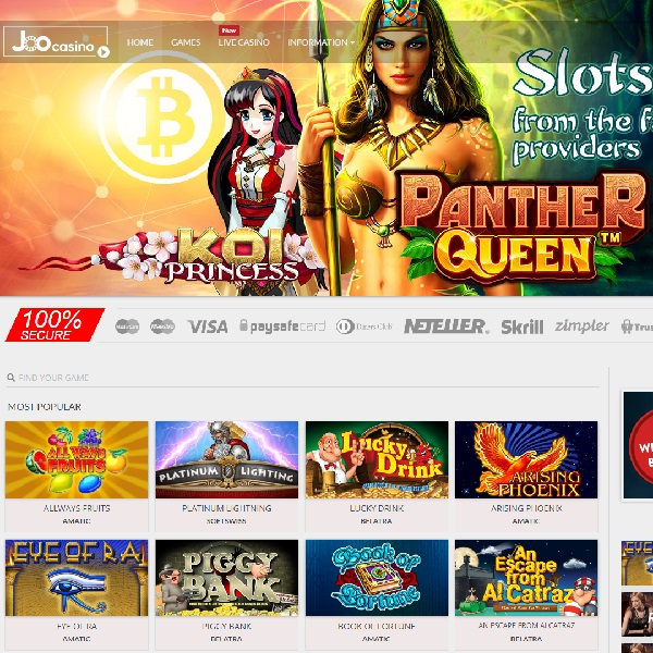 Joo Casino Brings Games For All Tastes