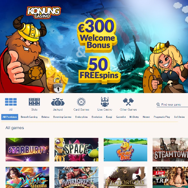 Konung Casino Offers Riches Fit for a King