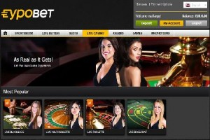 EypoBet Casino Live and Accepting International Players