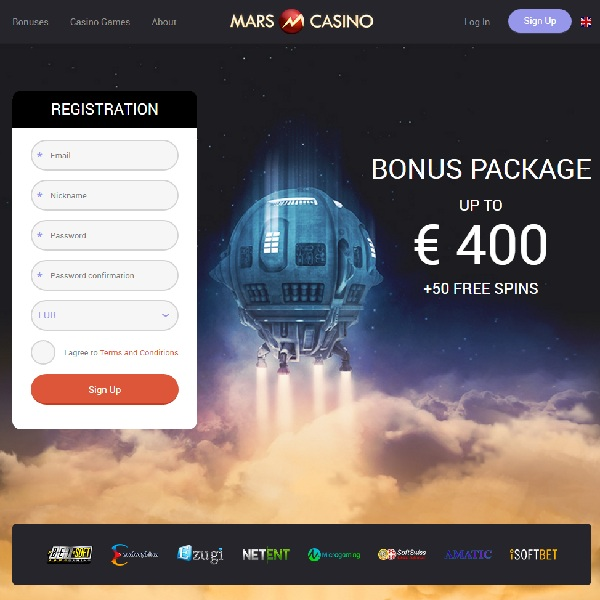 Mars Casino Takes You Out Of This World