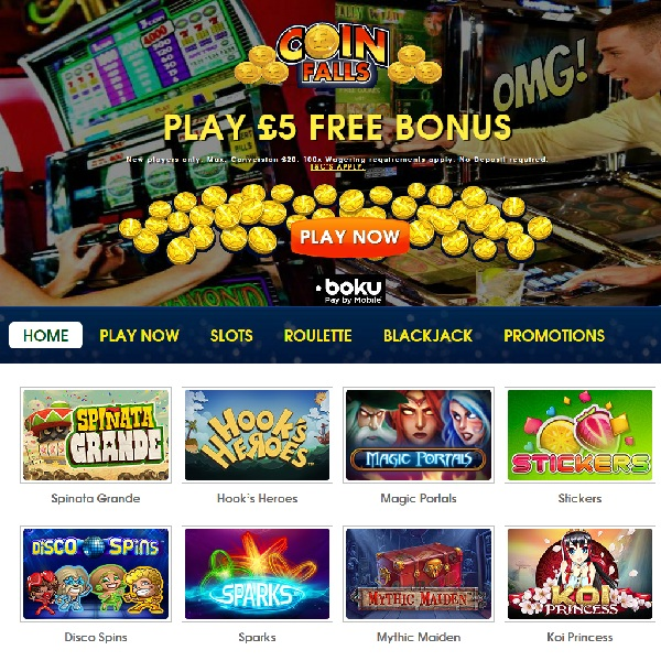 Coin Falls Casino Brings You Winning Games