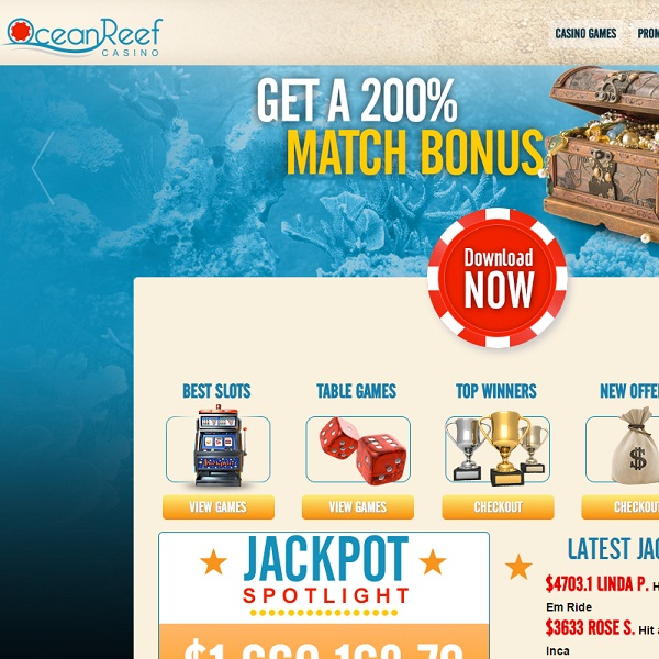 Ocean Reef Casino Launches with $5,000 Welcome Package