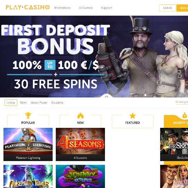 Play.Casino Offers Straightforward Casino Fun