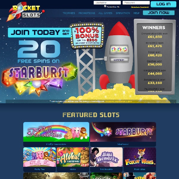 Rocket Slots Casino Will Blast Your Gaming Out of This World
