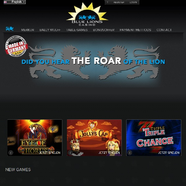 Blue Lions Casino Launches for German Gamblers