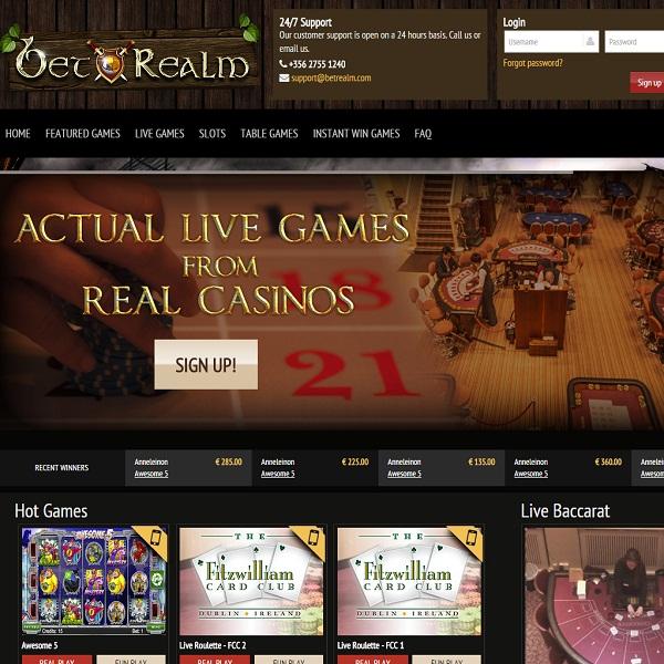 Bet Realm Casino Offers Fantastic Live Dealer Games