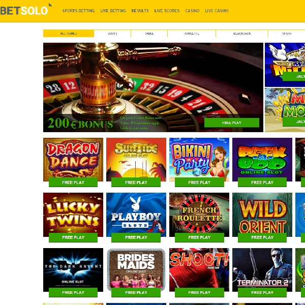 BetSolo Casino Offers Everything You Need