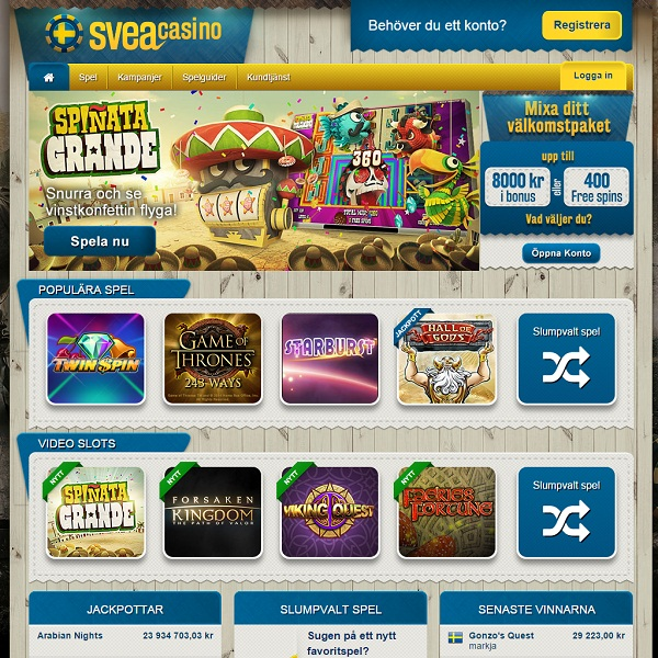 Svea Casino Offers Swedes High Quality Online Gambling