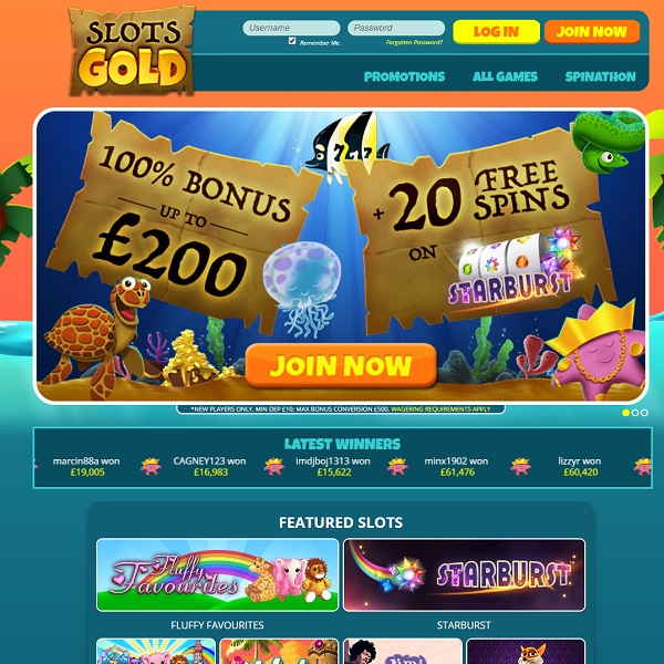 Slots Gold Casino Review – Lucrative Slot Play