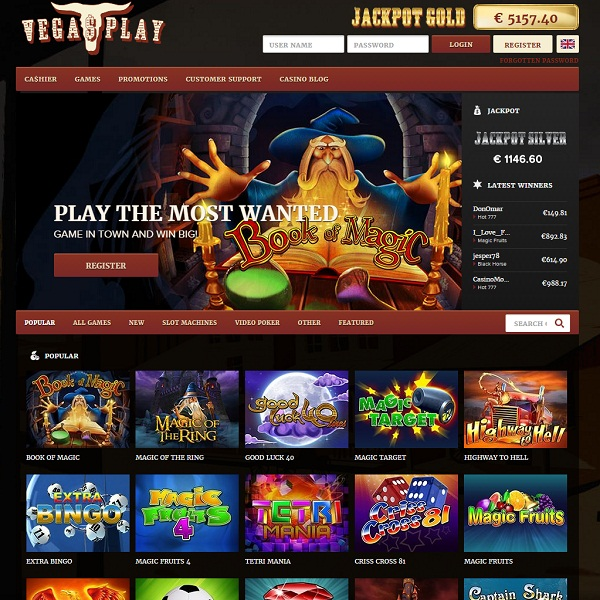 Vega$Play Casino Brings Vegas Excitement Home