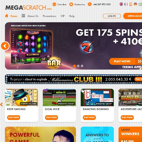 Megascratch Casino Brings the Best of Online Scratch Cards