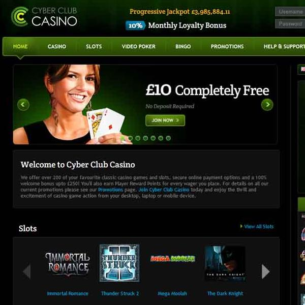 Cyber Club Casino Offers Casino and Bingo Games