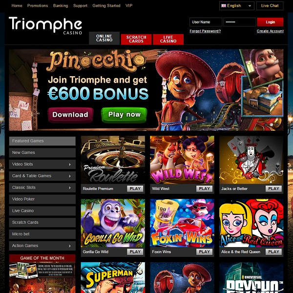 Casino Triomphe Brings the Winnings Home