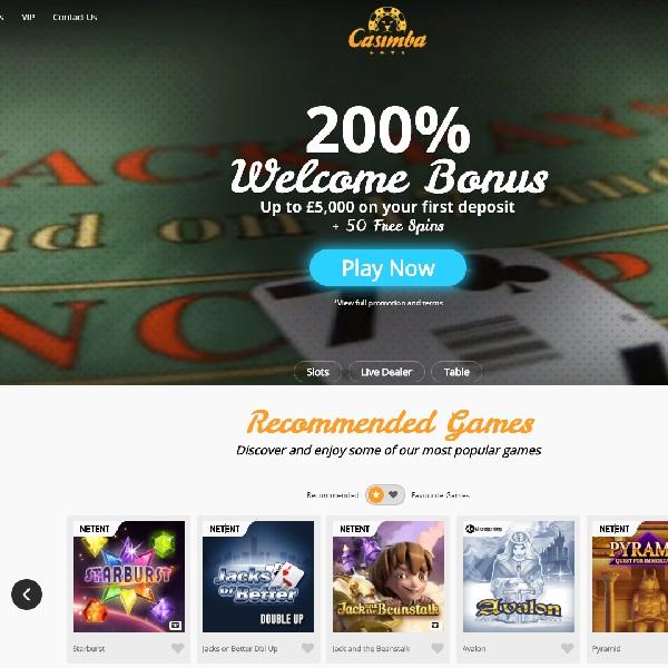 Casimba Casino Takes You into a Gambling Jungle