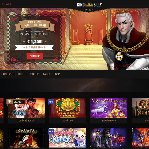 King Billy Casino Invites Members to the Throne