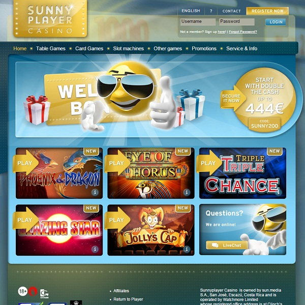 Sunny Player Casino Aims to Brighten Gamblers' Days