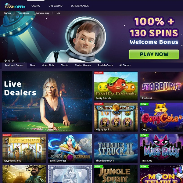 Casheopeia Casino Brings Loads of Chances to Win