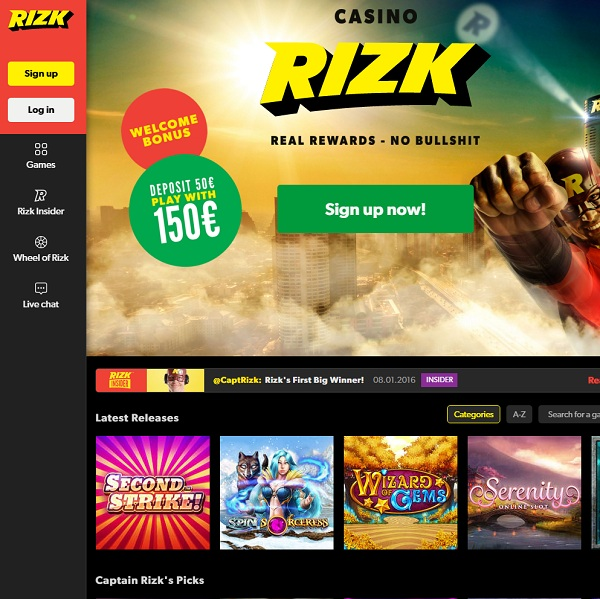 Rizk Casino Offers Rewarding Online Gaming