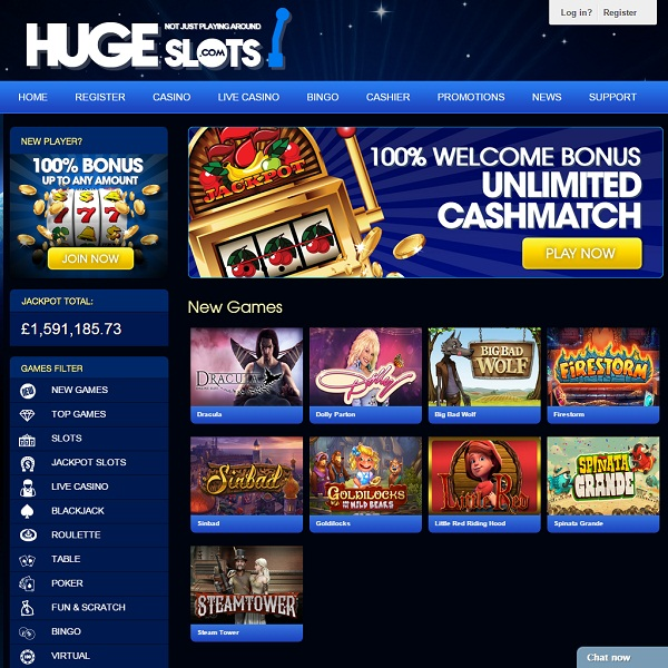 Huge Slots Casino Launches With Hundreds of Quality Slots
